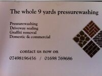 Pressure washer washing of driveways, patios, decking, roofs and walls,finishing specialist also