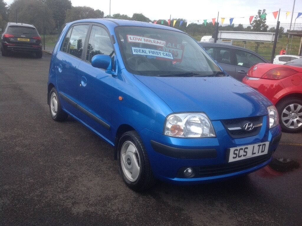 Hyundai amica 1.1 56 plate only 72000 miles FSH MOT ONE YEAR BLUE METALLIC 5 door