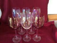 Beautiful iridescent wine glasses