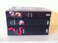 The Twilight trilogy by Stephanie Meyer