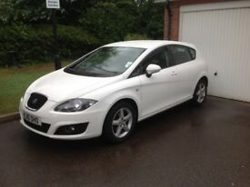 2010 Seat Leon 1.9Tdi, white, genuine 19500 miles