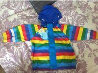 Kozi kidz unlined rainbow rain jacket