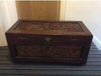 Carved Oriental Style Chest/Trunk