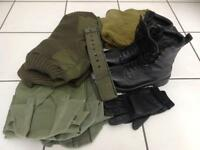 Genuine ex military clothing