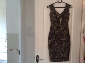 Jane Norman body con ripple dress size 8