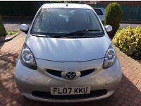 Toyota Aygo + VVT- I 2007 3 door silver. 72500miles, Mot 23/03/2018. Excellent condition. F.S.H