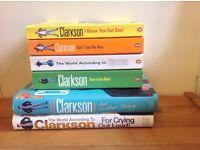 Selection of men's fiction books, Jeremy Clarkson x6