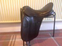 Bates Black Dressage Saddle