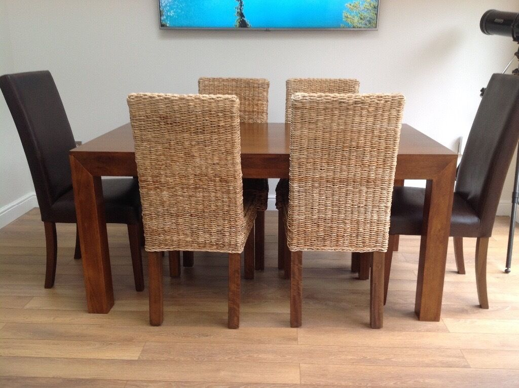 next mango dining table and chairs in norwich norfolk gumtree. Black Bedroom Furniture Sets. Home Design Ideas