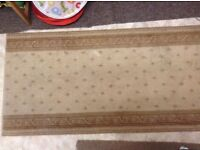 """Florals thick rug, size: 27"""" X 53"""" , steam cleaned"""