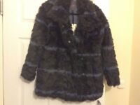 Next Ladies faux fur Navy jacket New With Tags Size 10