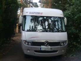 Rapido 990 Mercedes, 2008, mot dec, full leather, refillable gas bottles, queen fixed bed, Aclass