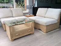 Conservatory furniture modular type in very good condition with coffee table.