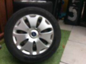 4 Ford 5 stud 108 Steel wheels and wheel trims with tyres