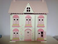 Beautiful ELC dolls house, lots of matching furniture and 2 families of dolls. V