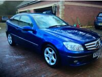 2009 09 Mercedes Benz clc 180 kompressor coupe auto Amg bumpers and grill,amazing blue,fsh,may px