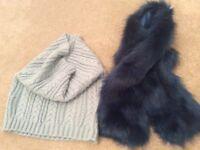 2 x neck warmers/scarfs