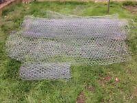 4 x used chicken wire rolls