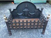 Vintage cast iron fire grate