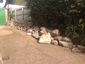 Garden rocks / wall stone in various sizes £1-5 each.