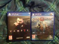 God Of War + Vampyr PS4