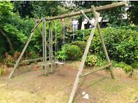 Free Garden Swing Set, a project that will need TLC but will be loved by kids young and old.