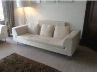 Dwell Cream 3 Seater Sofa and 2 Seater sofa Smoke Free Home