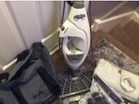 Shark steam cleaner with all instructions ans attachments included. Only used a couple of times