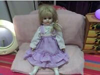 Beautiful doll for Christmas gift excellent condition
