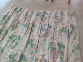 Professionally made lined and interlined curtains, not new but in quite good condition