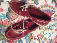Red Leather Deck Shoes