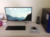 HP Pavilion 550-131na desk top computer and HP 23xw monitor with mouse and keyboard