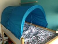 Blue bed tent IKEA Kura
