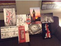 London canvas collage