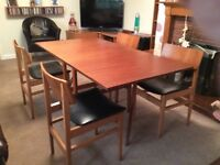 Dining Table GateLeg & 4 chairs