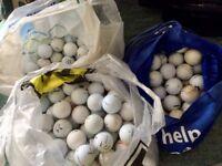 245 assorted golf balls