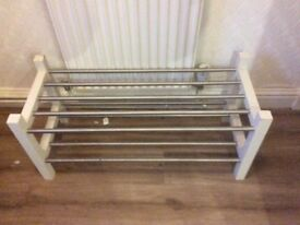 Ikea white shoe rack