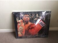 Anthony Joshua signed and framed boxing glove - in original packaging