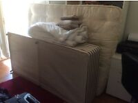 Single bed and mattress plus queen-sized mattress and duvet