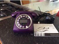 Retro Sixty Sagemcom Purple telephone