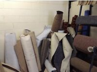 Remnants of vinyl and carpet - Stair Rods available.