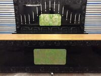 Bar counter and back bar optic display 3m660 length x 700 depth x 1m height. Inc stunning back bar.