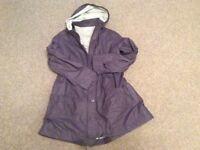 Avoca Ladies Plum coloured lightweight coat