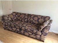 DFS fabric 4 seater and 1 seater sofa suite