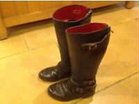 Vintage Ladies Lewis Leathers Aviakit Motorcycle Boots Size 5