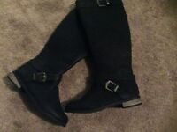 Brand new leather effect size 4 knee high boots