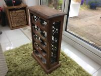 Vintage wine rack,wrought iron sides on timber,good quality .