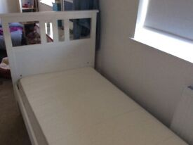 Ikea Hemnes single bed with or without mattress