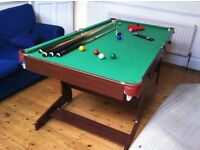 6ft Folding Billiards Snooker/Pool Table with balls and other accessories