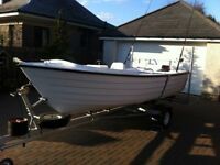 Highlander 15ft Fishing Boat with Outboard, Trailer and Accessories - excellent condition throughout